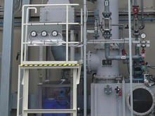 Exhaust gas processing device (Sagami Operation Center)